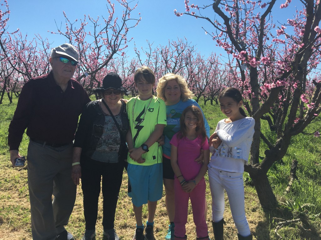 family at our spring stroll
