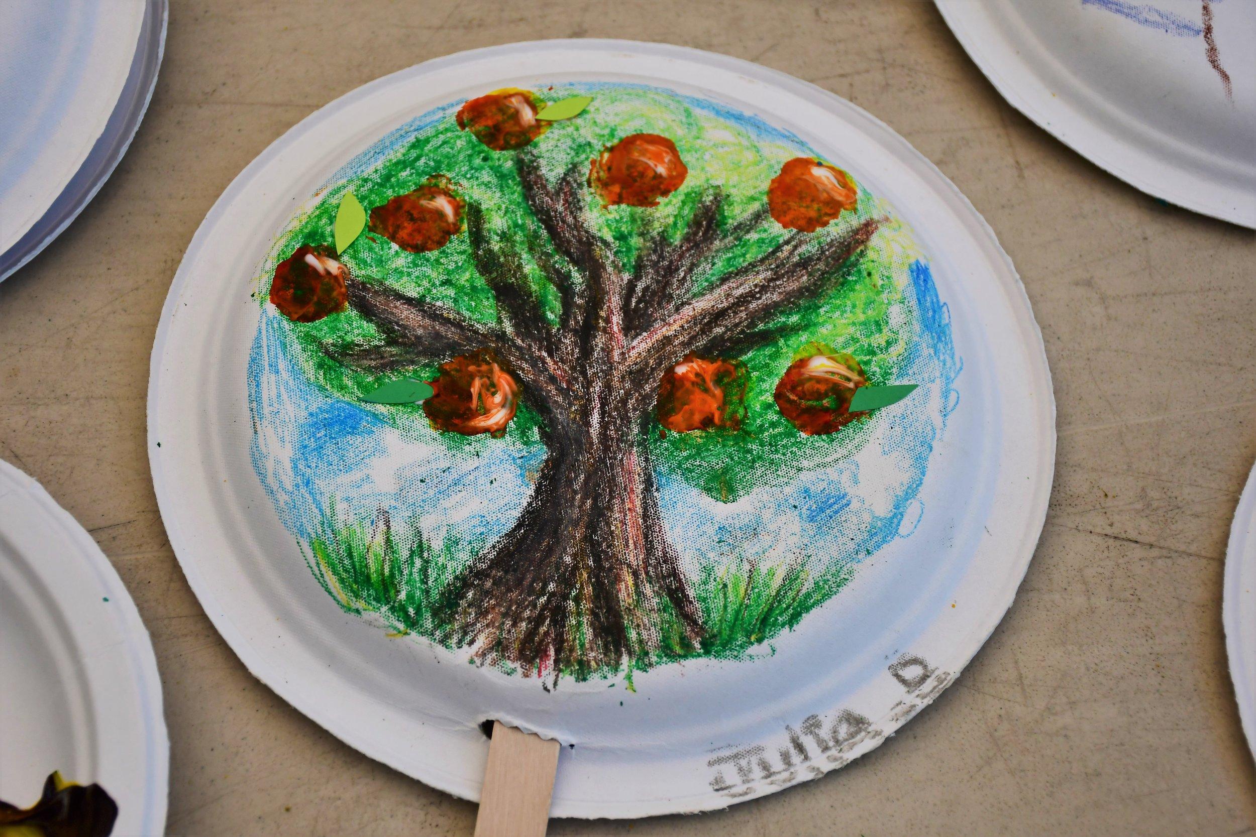 Beat the heat peach tree fan craft by the talented Julia B.