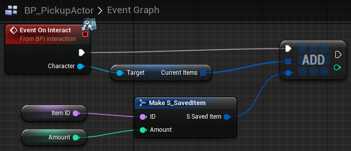Fig 12 -  EventGraph for PickupActor