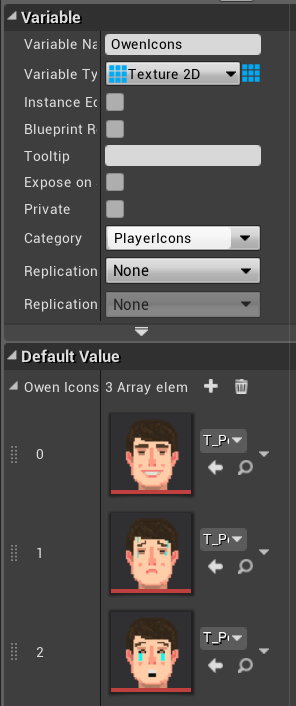 Fig 21 -  Player icon array