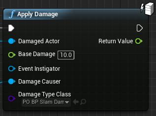 Fig 8 -  Slam damage node only outputs slam damage using the slam damage type