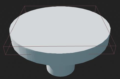 Fig 3 -  Mushroom pad viewport