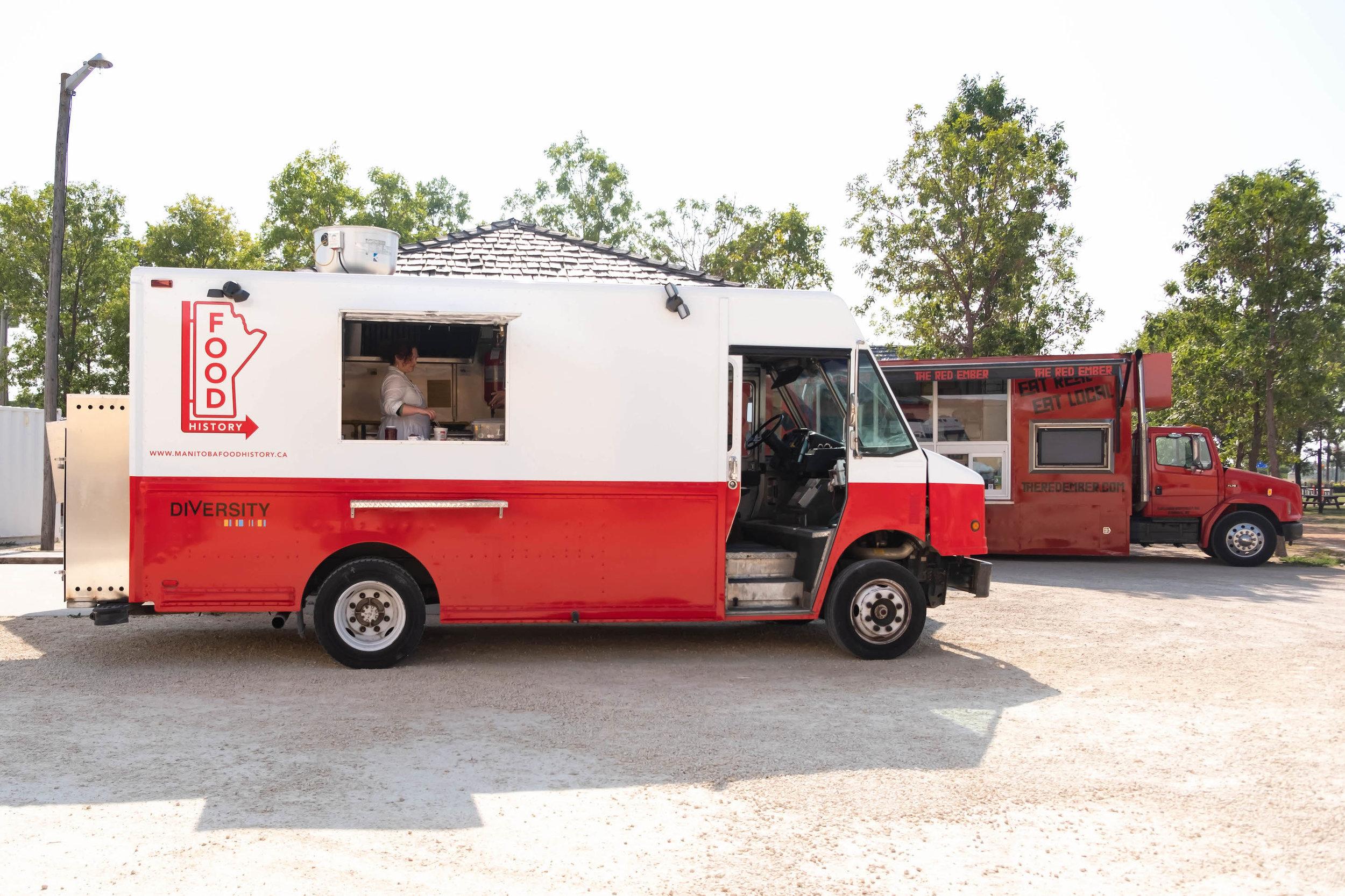 The Manitoba Food History Truck at St. Norbert Farmer's Market. Photo by Kimberley Moore.