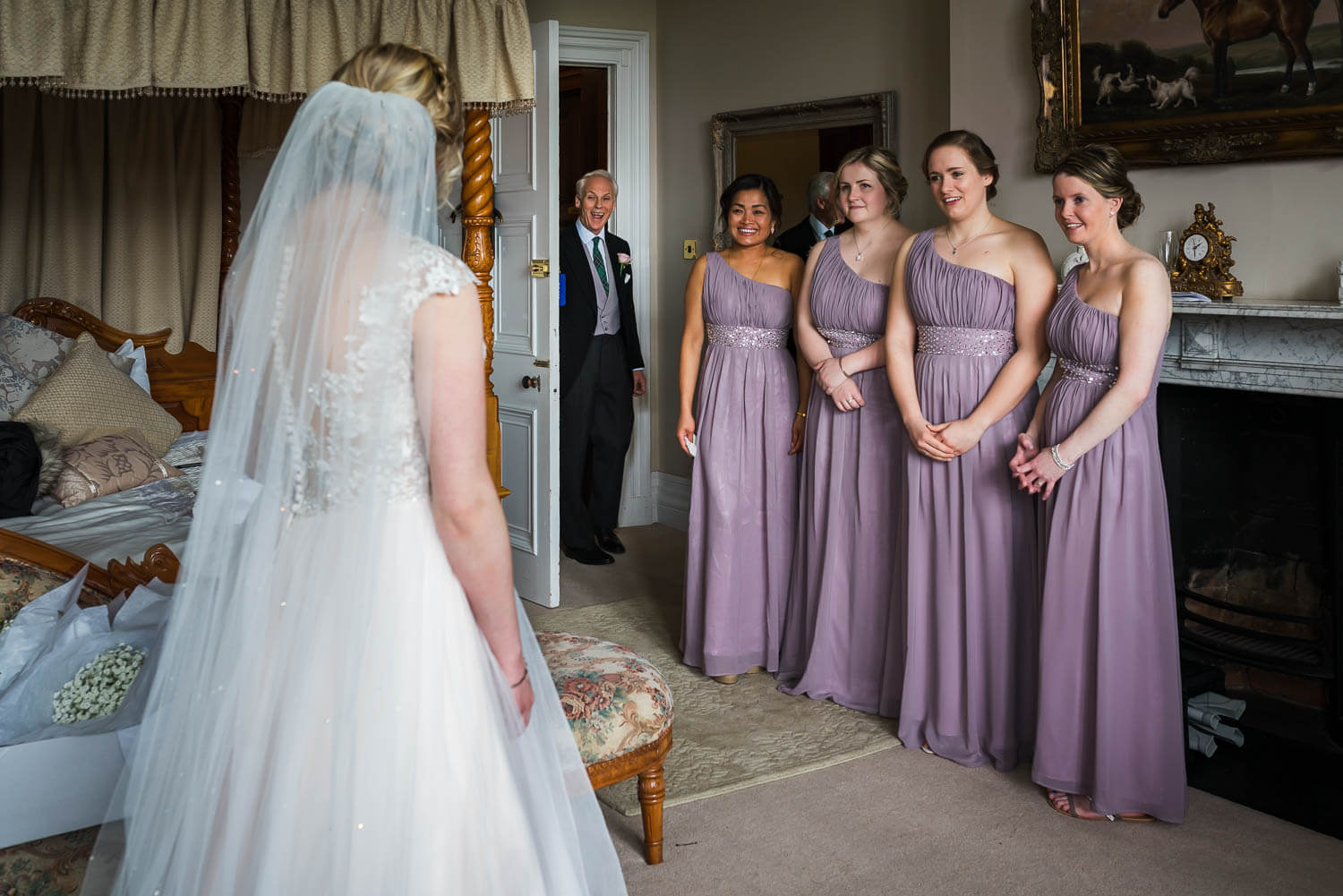 Orchardleigh Wedding Photography, Somerset Wedding Photography, Somerset Wedding Photographer, Father of the Bride, Bridesmaids, First Look