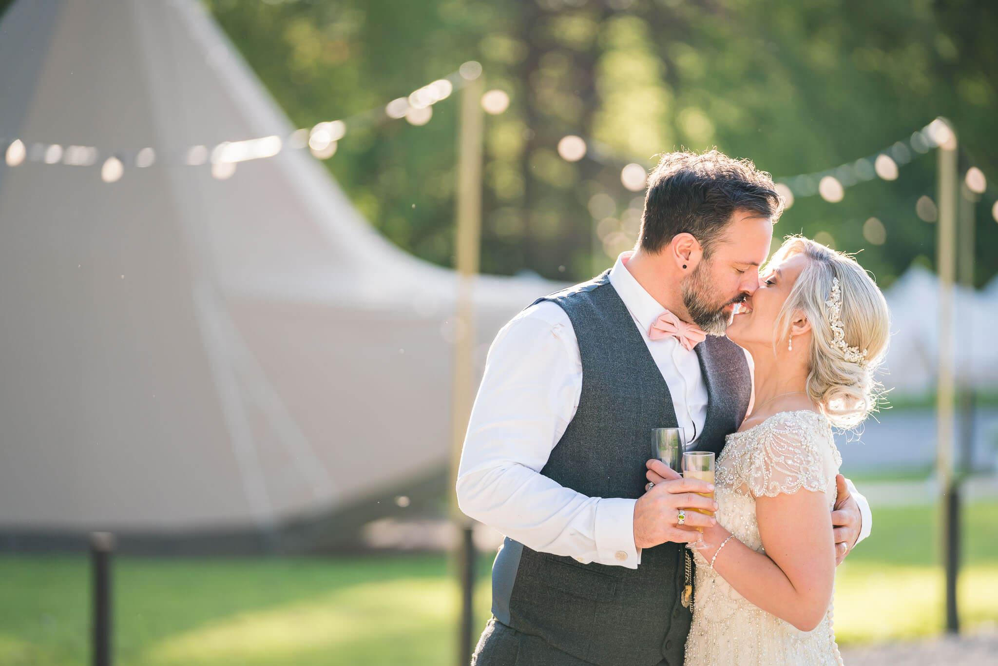 Wiltshire Wedding Photographer, Festival Bride and Groom