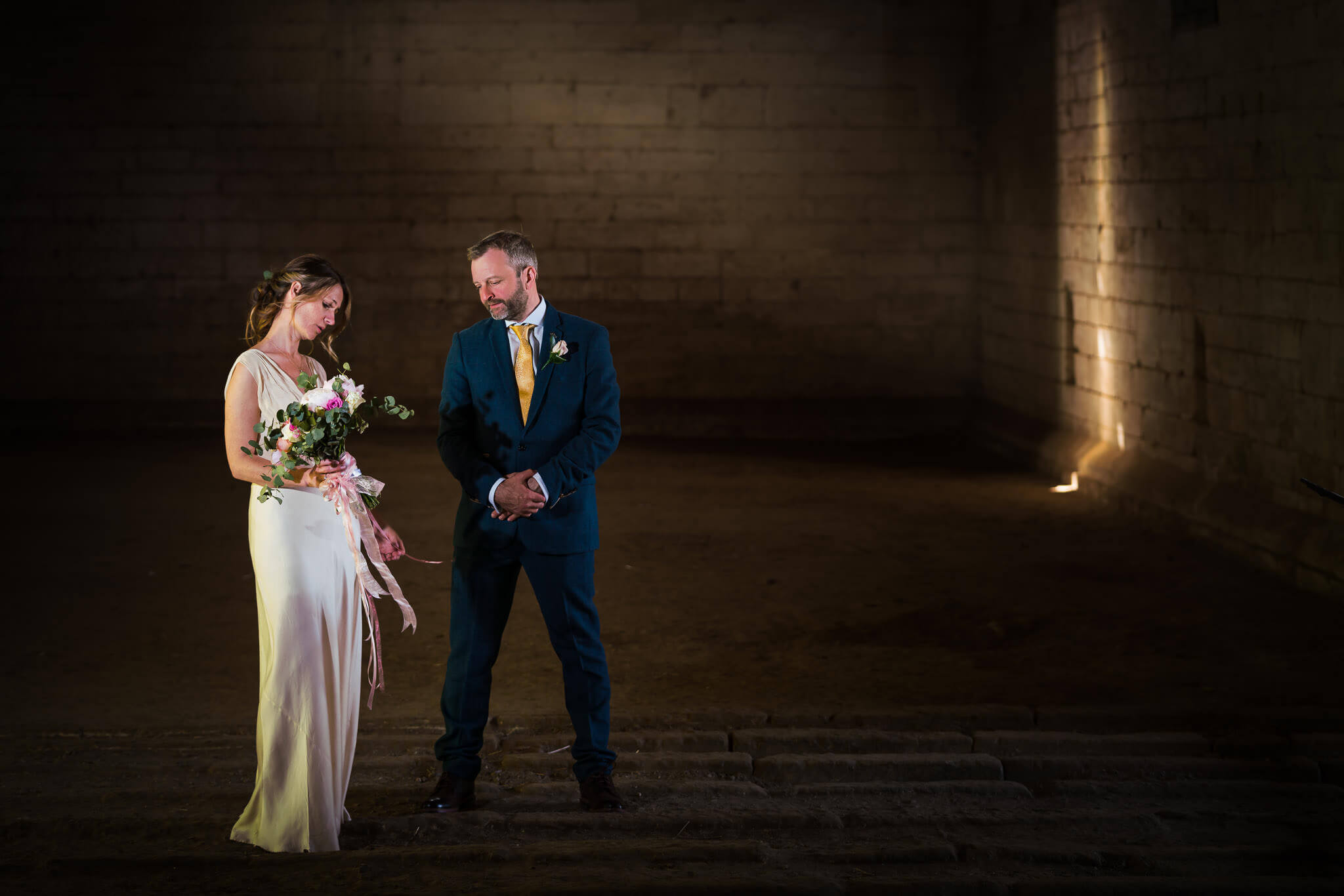 Wiltshire Wedding Photographer, West Barn Wedding Photography, Married couple in tythe barn