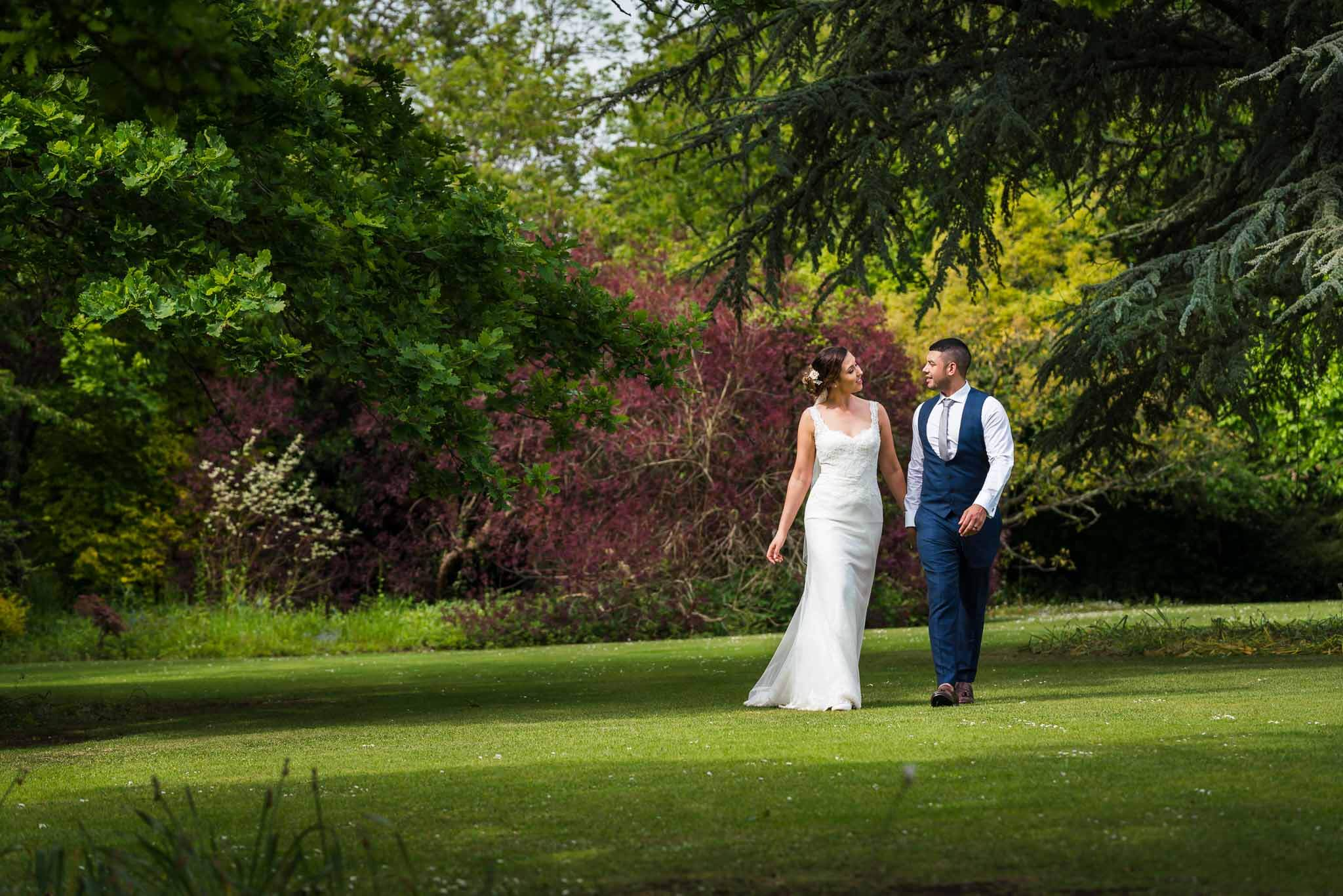 Gloucestershire Wedding Photographer, Old Down Estate Wedding Photography, married couple in trees