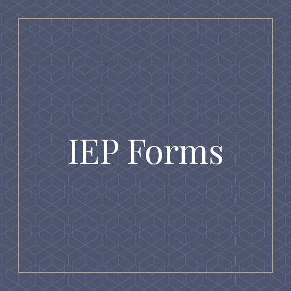 Illinois IEP Forms