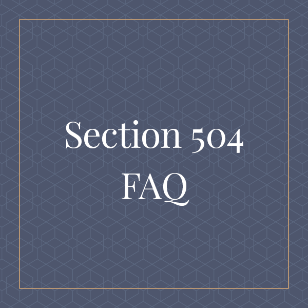 Special Education and School Law Section 504 FAQ