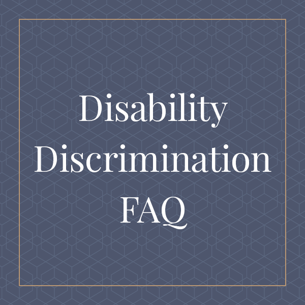 Special Education and School Law Disability Discrimination FAQ