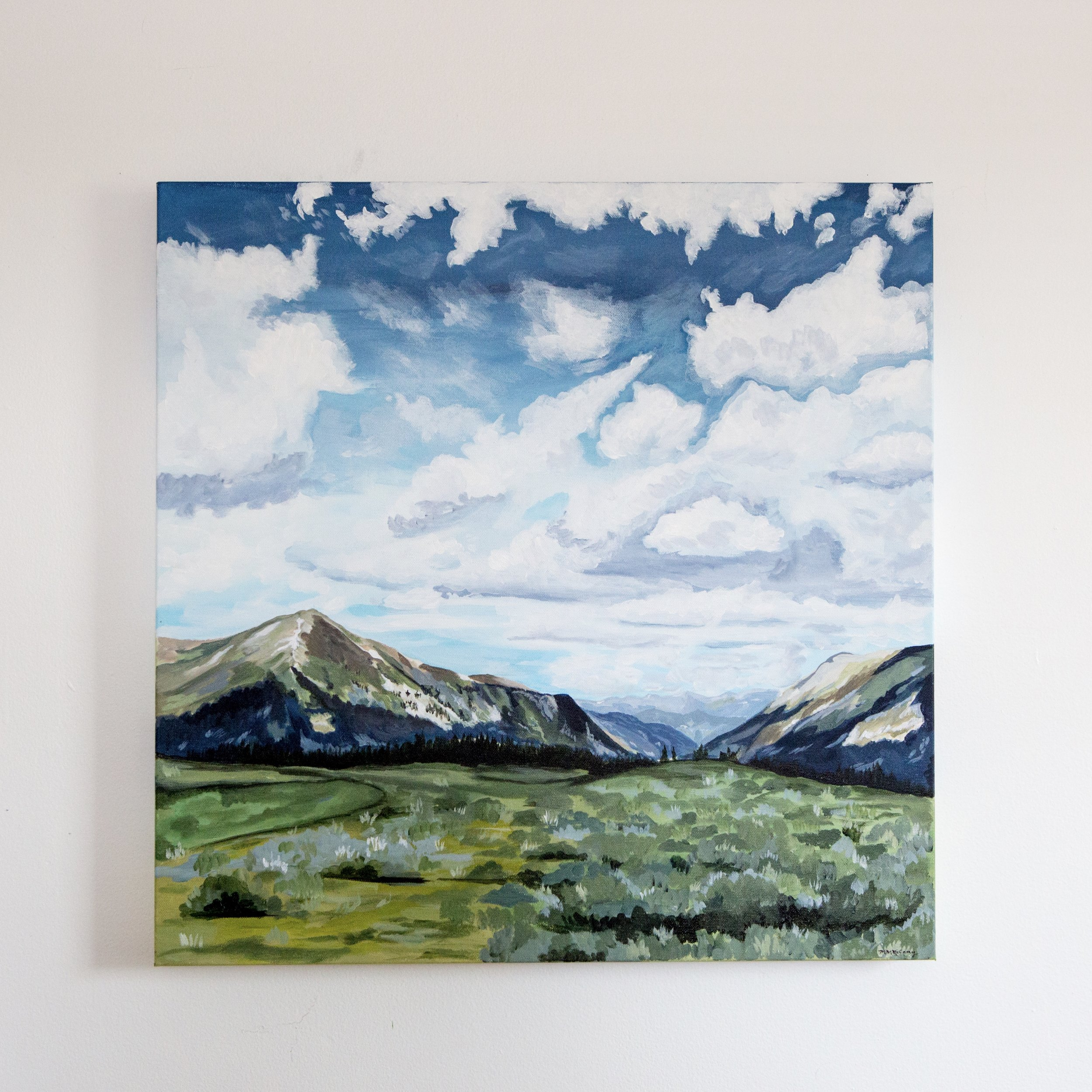 Counsel  reference Guanella Pass Colorado, 24x24, acrylic on canvas, purchase  here