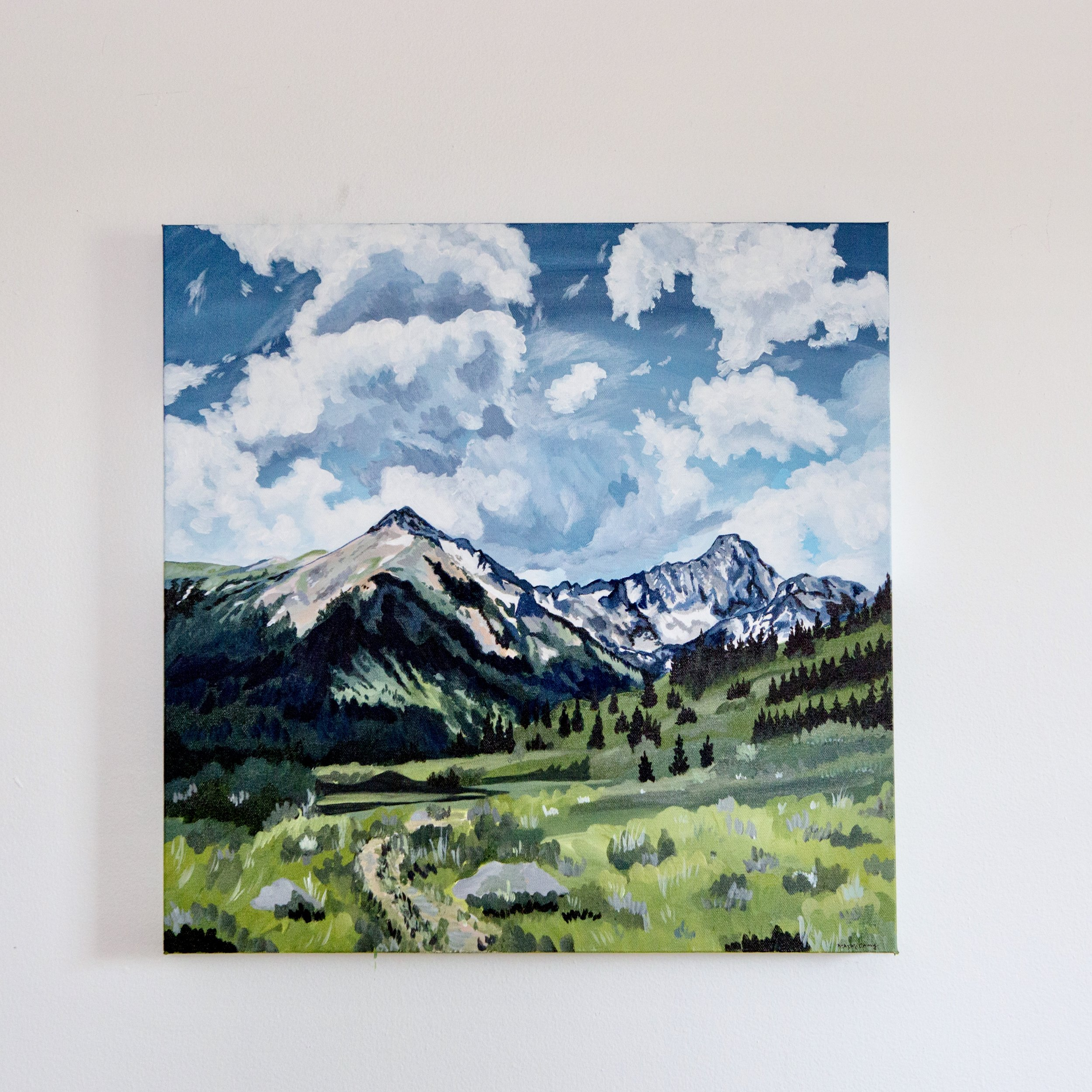 Fortitude  reference Capitol Peak, Colorado, 20x20, acrylic on canvas, purchase  here