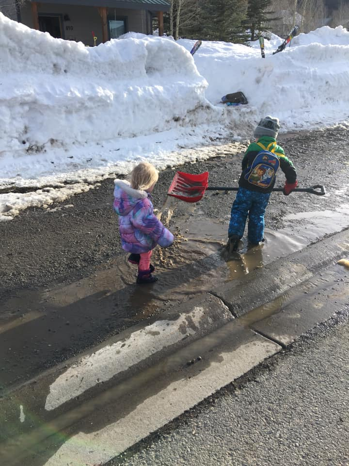 Play in the puddles & mud!