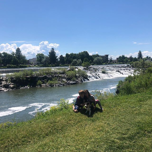 On the toad to MT! We stopped in Idaho Falls and had a great walk on the Snake river and great sushi at the Snow Eagle Brewery! Let the good times roll