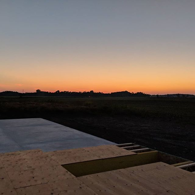 Site visit at dusk.