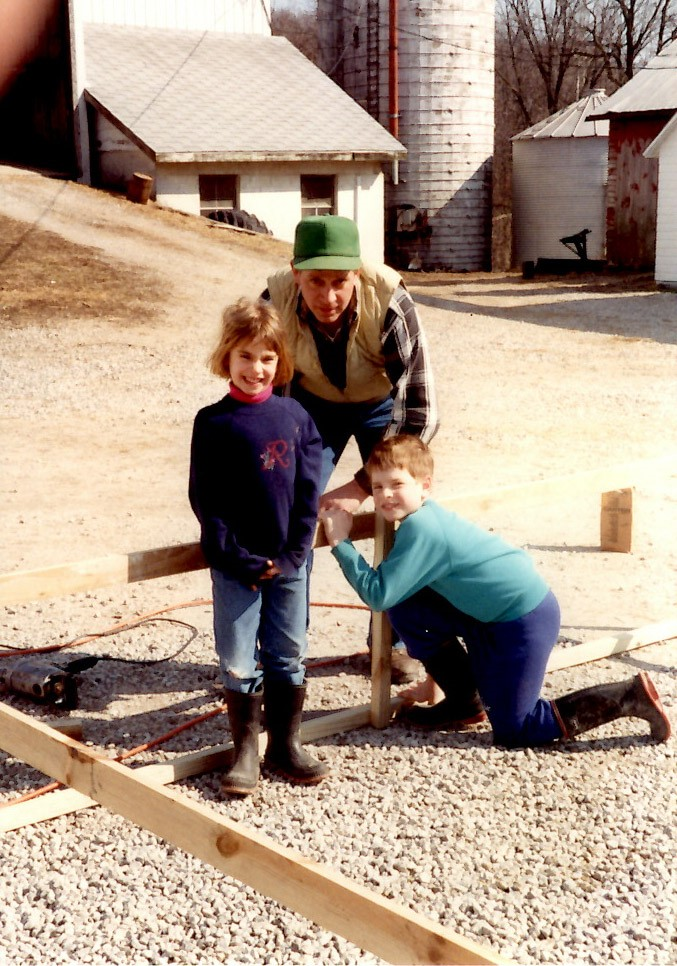 Ralph, Brian & Renae building the first chicken pen
