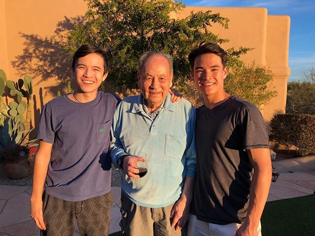 Happy Father's Day Pops. You are a true inspiration to so many people.  You taught us Hao Ren, Hao Bao.  Good things happen to good people. Your generosity and loyalty to family and friends is remarkable. You remember everyone and everywhere you have eaten! You enjoy nothing more than a great meal with family and friends, from 4 people to 150 people, you always make all feel special. Happy Father's Day Pops!! Sons, you make life so amazing and me the proudest Dad eva! Stay kind. Love you all #familylove #bekind