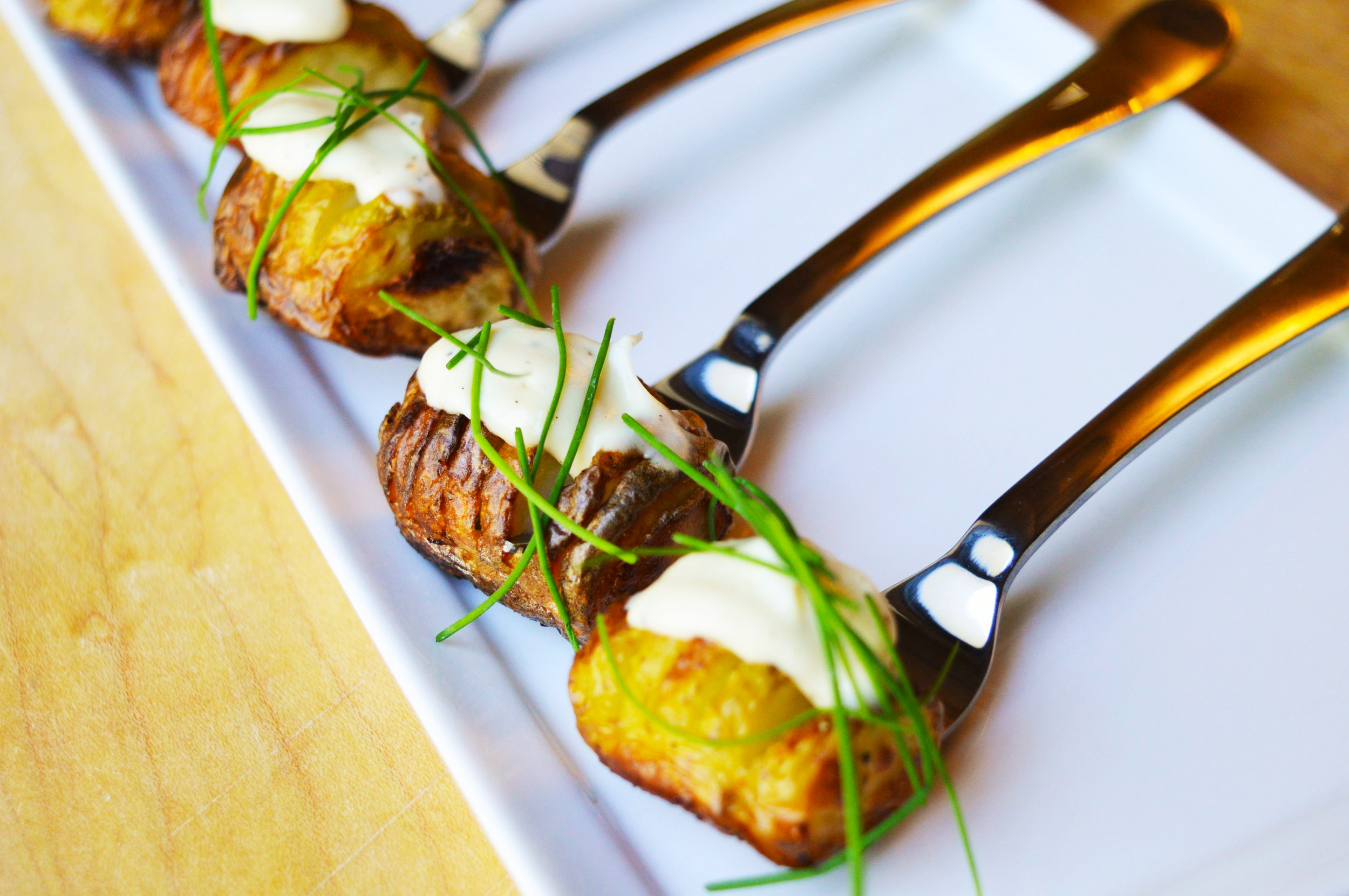 Petite Hasselback Potatoes