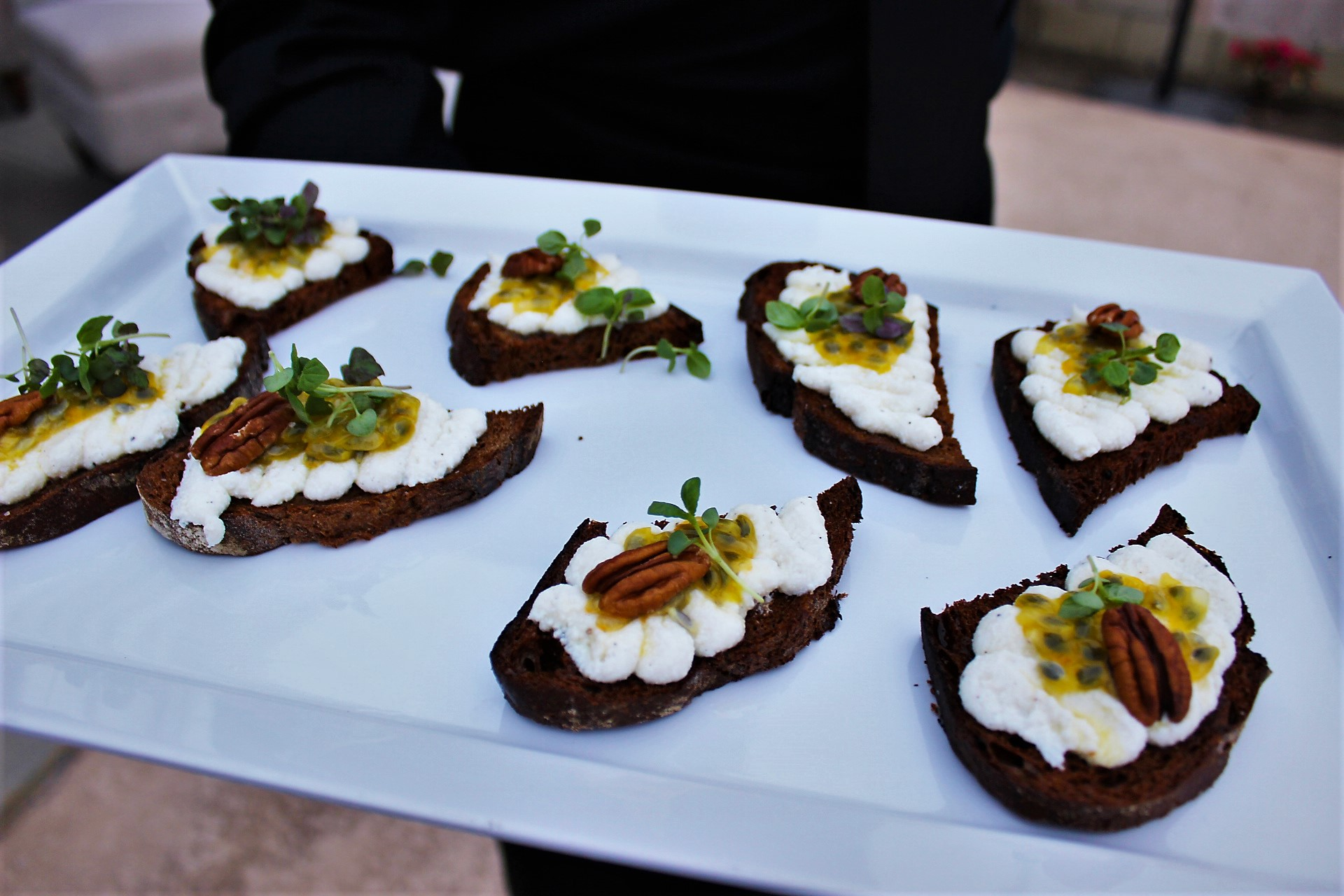 Ricotta Toast with Passion Fruit