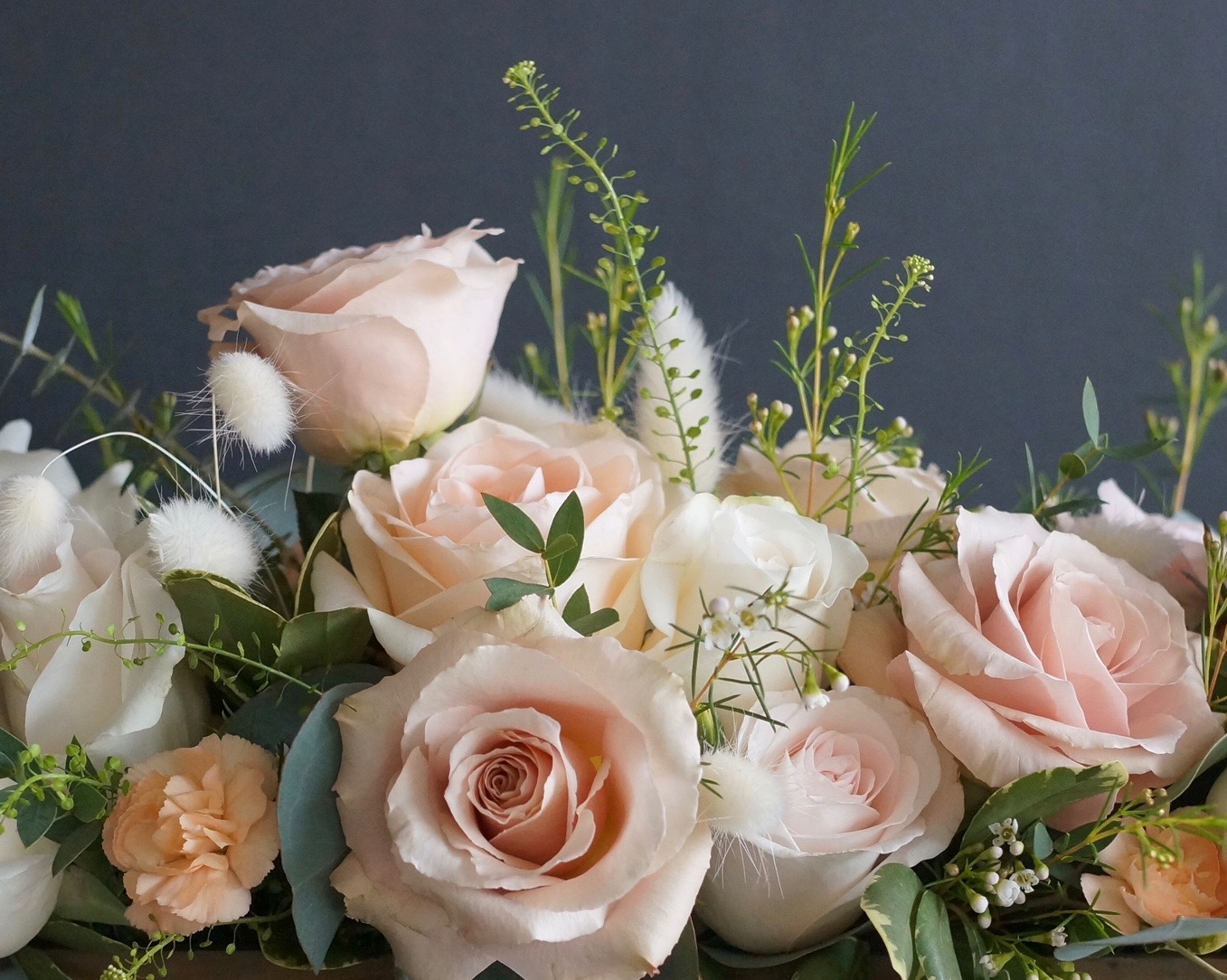Blush colored blooms are still a hot commodity this year - be prepared for increased pricing due to increased demand.