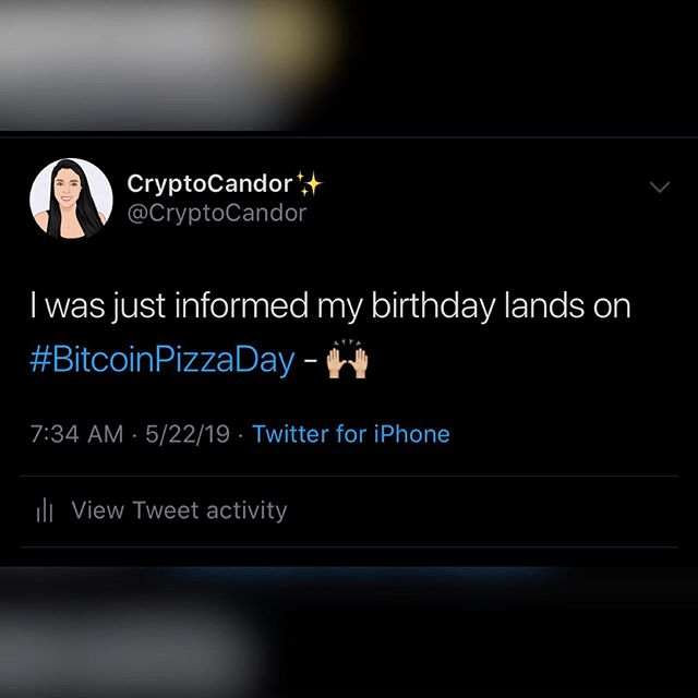 Which would be today! Happy birthday to me, and happy #bitcoinpizzaday to everyone else! 🥳 ——————————————————————————— #neo #btc #eth #ltc #xrp #bch #bitcoin #litecoin #ethereum #ripple #bitcoincash #cryptocurrencies #cryptocurrency #cryptocandor #cryptonews  #crypto #cryptocurrencynews #decentralize