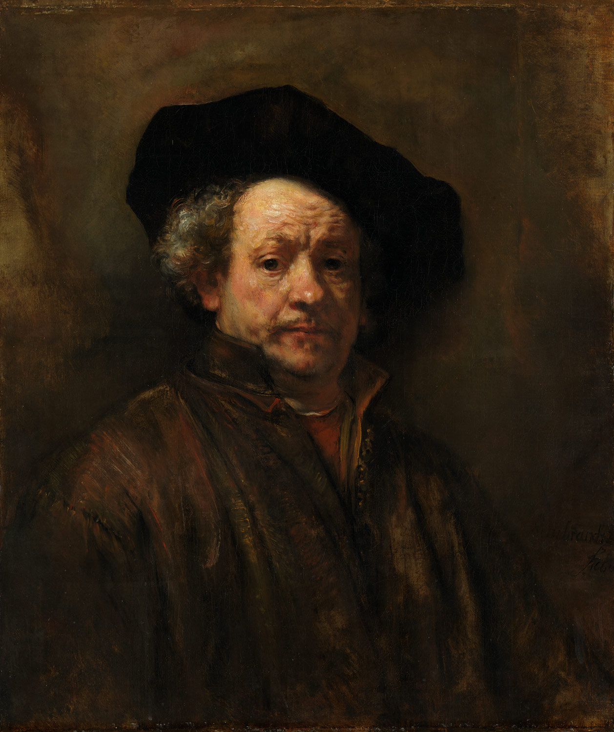 Rembrandt,  Self-Portrait,  1660, oil on canvas
