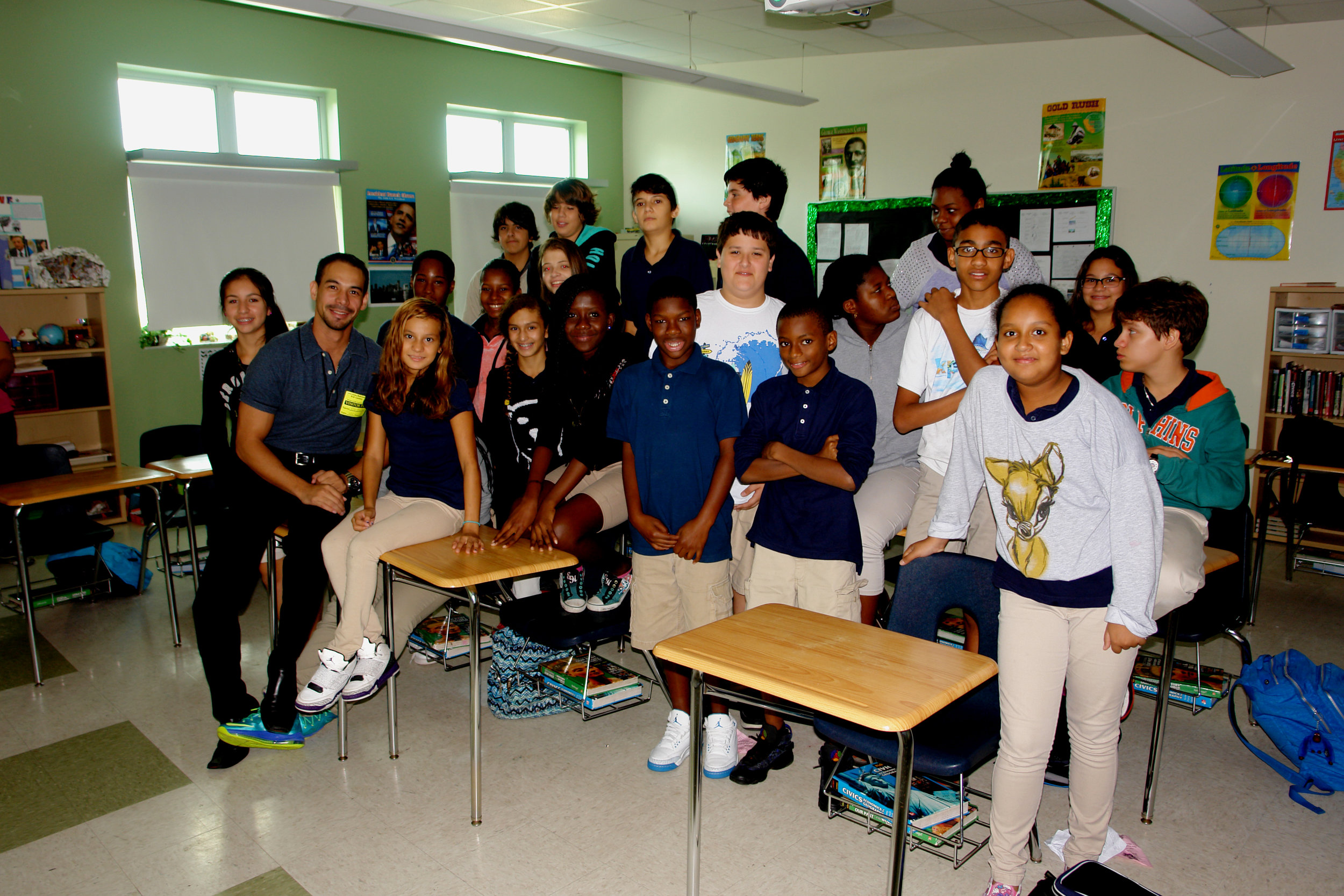 Fort Lauderdale Middle School Career Day, April 7th , 2017. This has been one of the most rewarding experience as an artist. I had the opportunity to present my works and the process of creating them to this incredibly gifted group of students.
