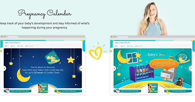 Digital experiences for Pampers #design #designstudio #digitalmarketing #digitaldesign #digitalmarketer #digitalart #contentcreator #contentmarketing #brandingagency #brandinganddesign #brandingandidentity #branding101