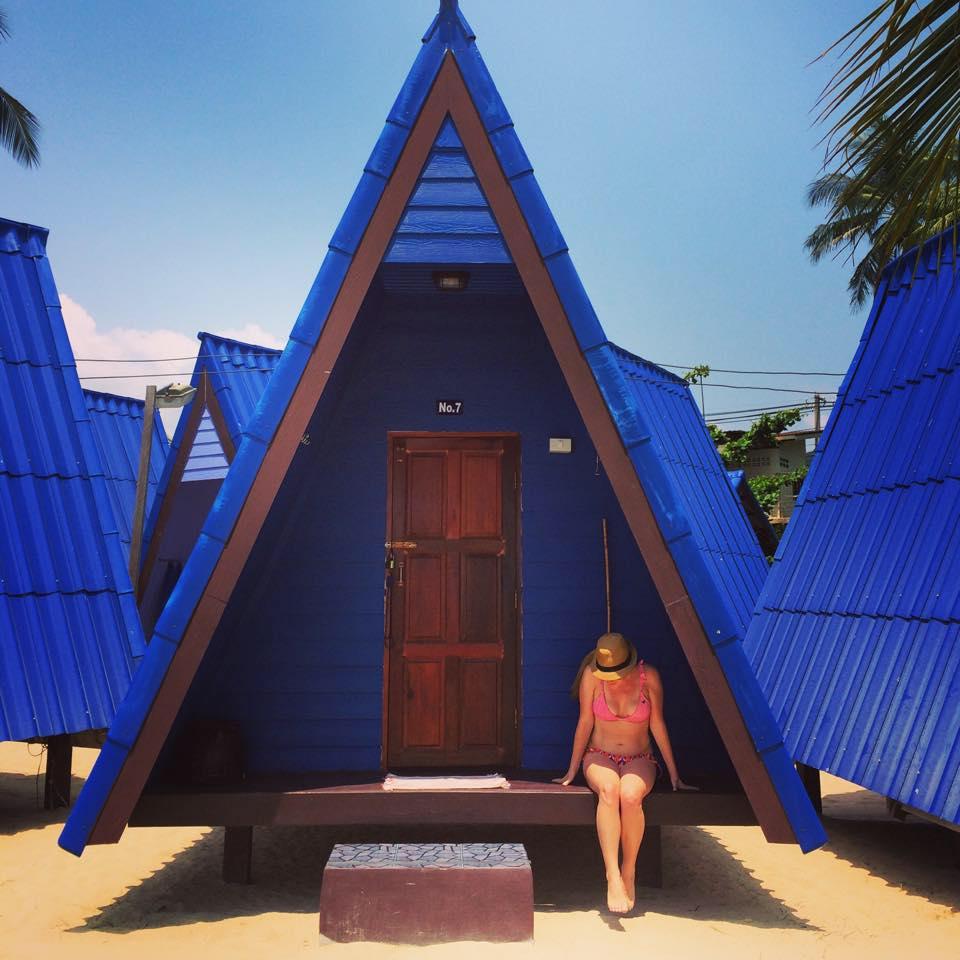 Beachfront bungalow in Koh Samui, Thailand.
