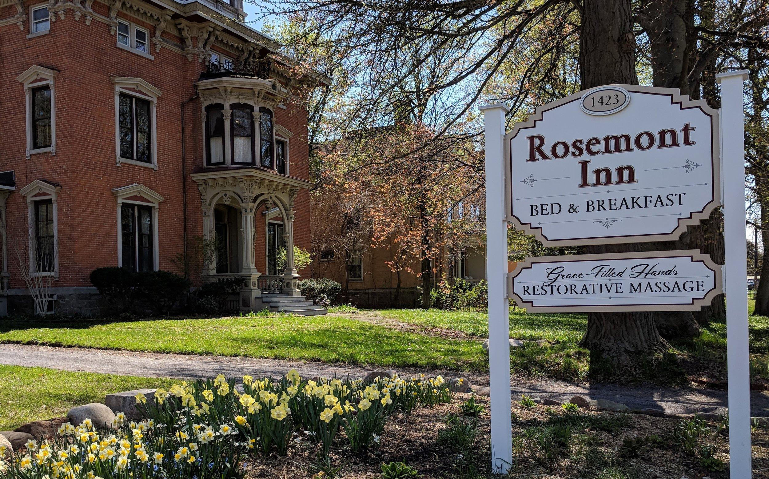 The Rosemont Inn outside GraceFilled Hands