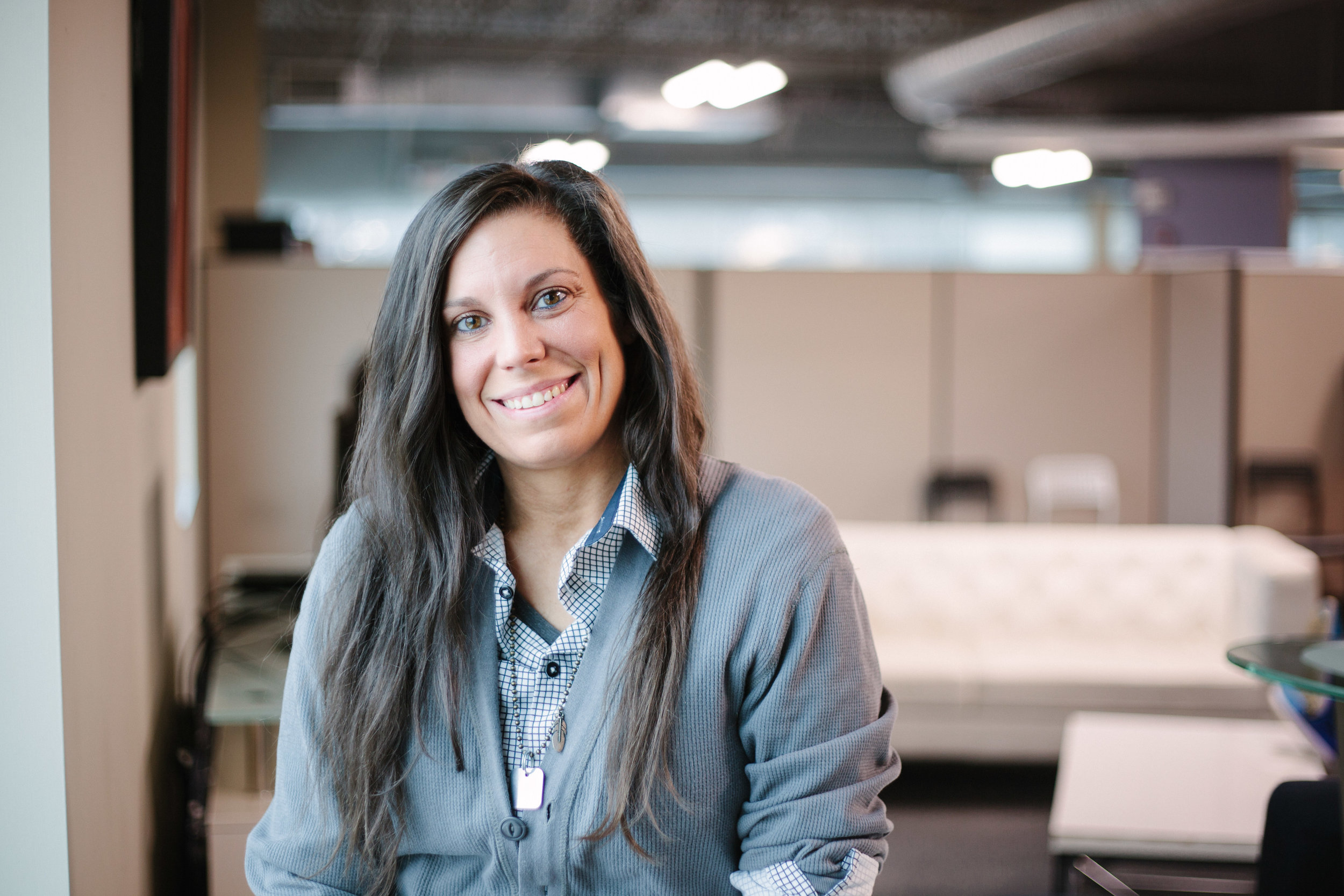 Erika Pumphery | Senior Client Success Manager   After finishing college in 2007 Erika came to Sapper a decade later. When not at Sapper she can be found in the gym, watching ANY sport, buying shoes, reading, or with her two cats. As a former college athlete, Erika sustains competitive urges by participating in co-ed softball/kickball weekly.