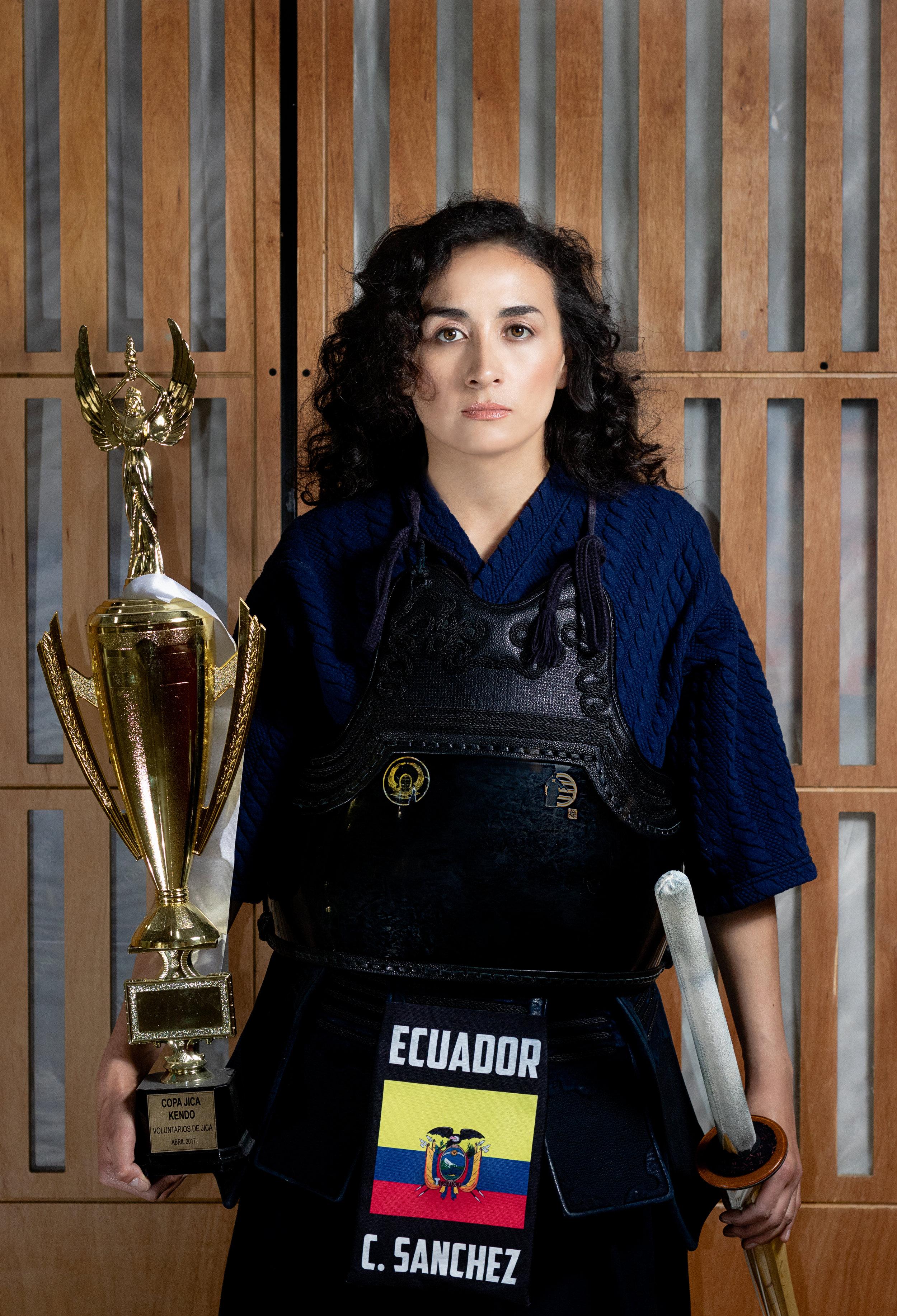 Carla Sánchez. (Kendo 4to Dan) Copa Embajador, Quito 2018.