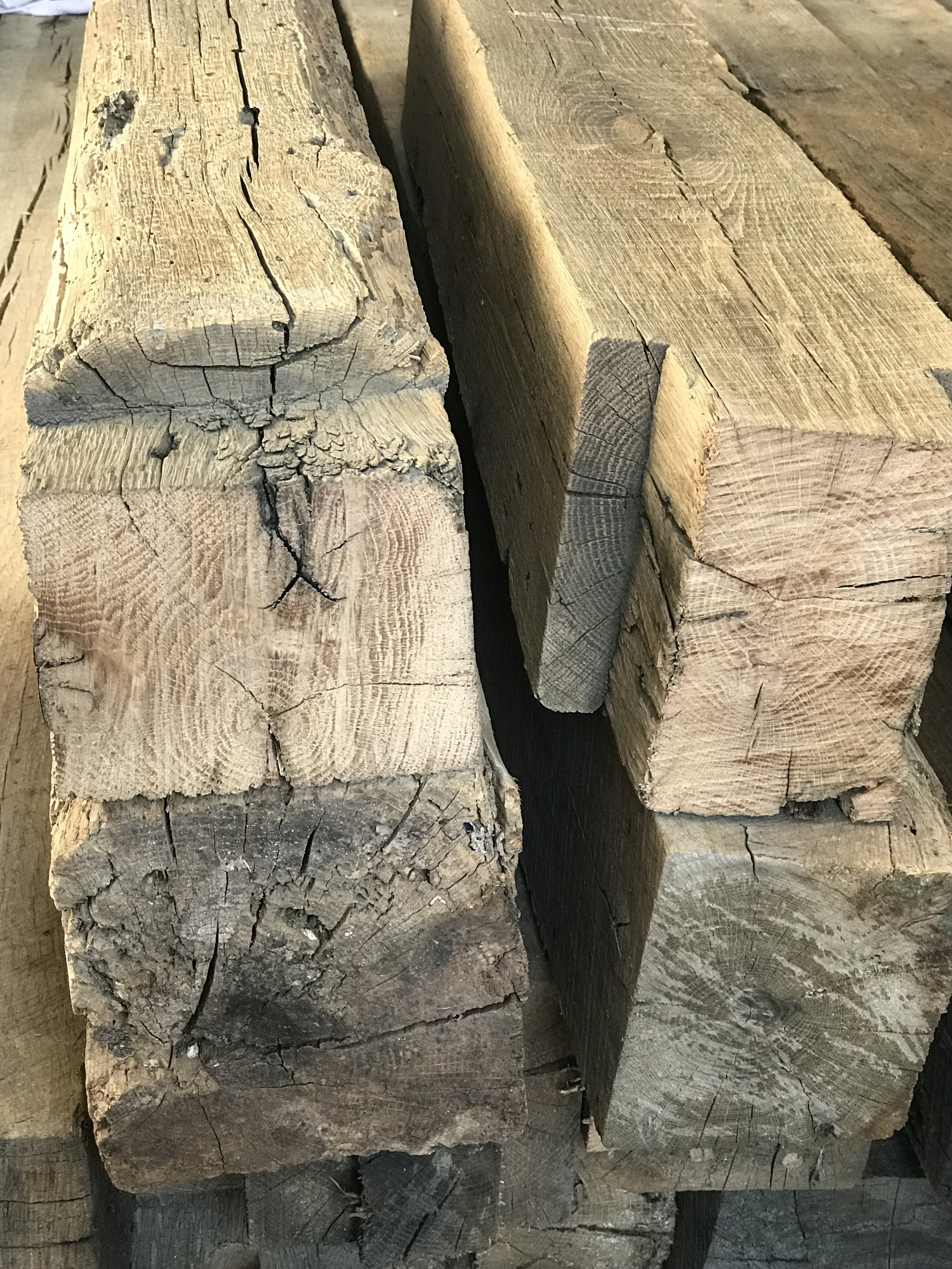 Used and reclaimed barn and cabin beams