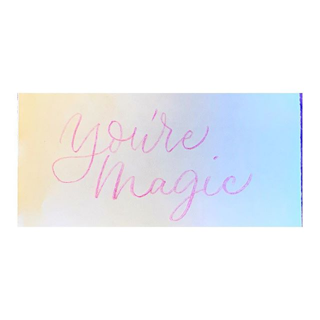 """[colored pencil + musings + a note to you] """"you're magic."""" I didn't know how much I needed to hear those words until he said them.  Sometimes you need a little affirmation from a voice other than you're own, and you know what? that's ok.  So, if you need that, here it is: nothing can diminish you. You're a spectacular creature, worthy of love and belonging and all of the good things. May you be full of joy and wonder and bright hope. ♥️✨"""