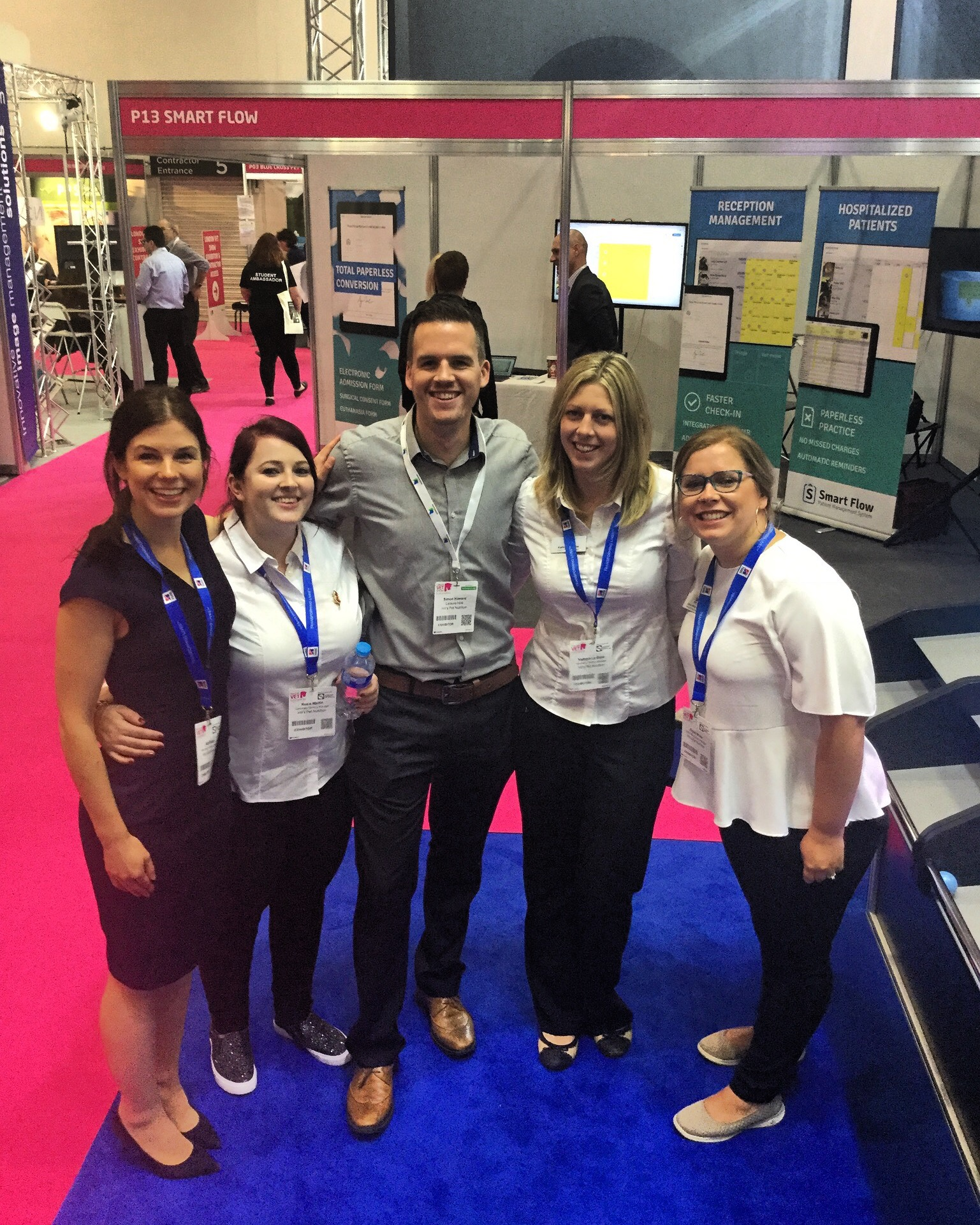 With the team at London Vet Show