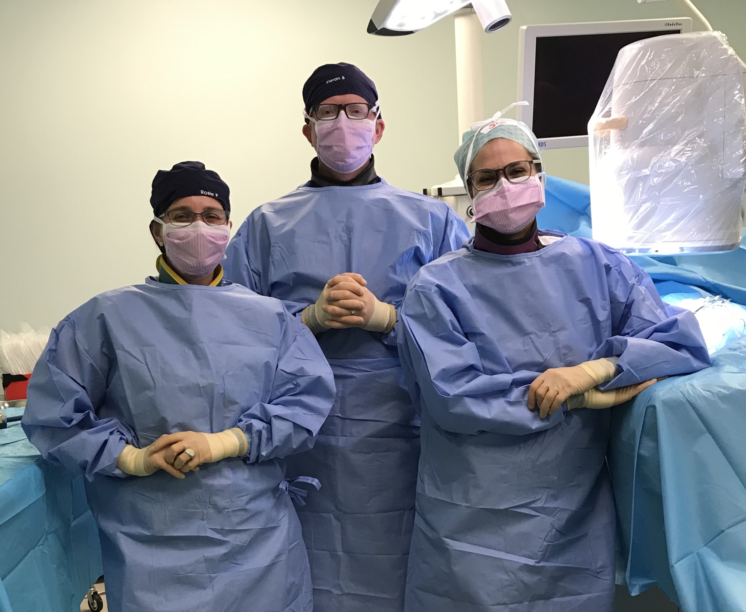 Team photo from one of the cardio interventional procedures