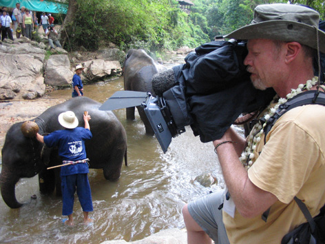 Filming in Thailand