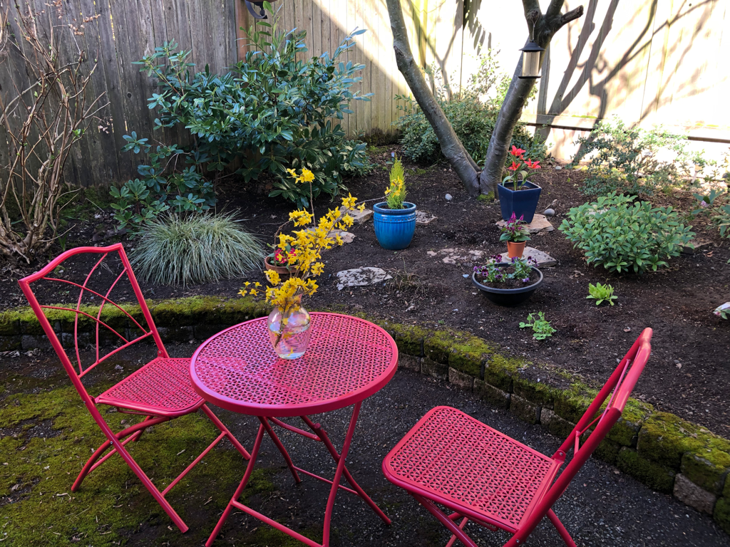 And after garden makeover