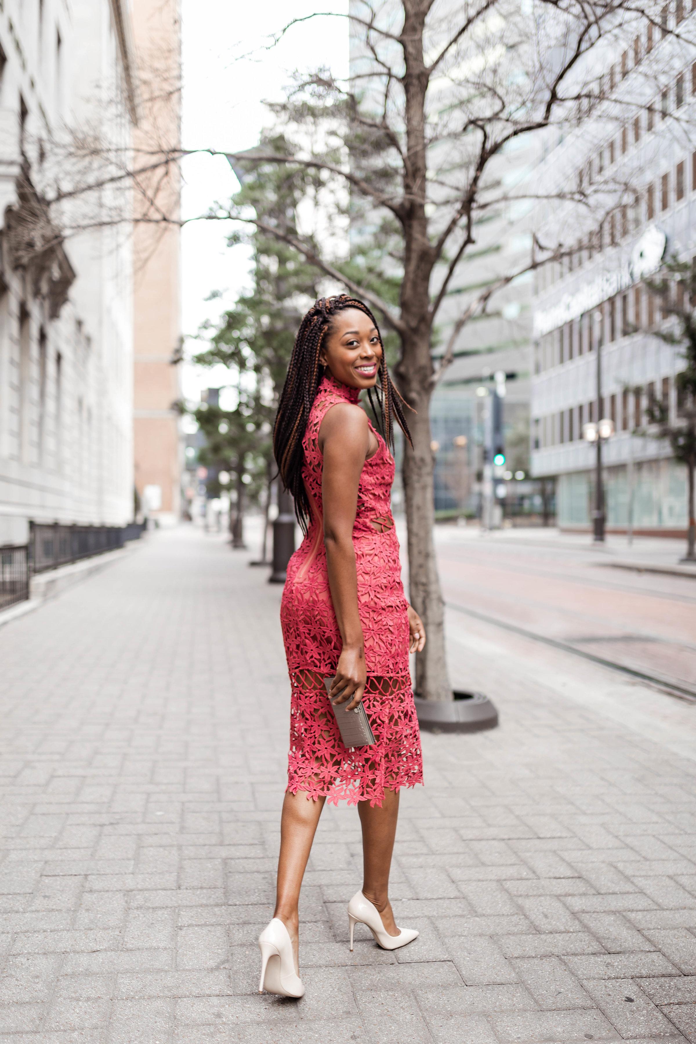 Dress: Dillard's | Shoes: Steve Madden