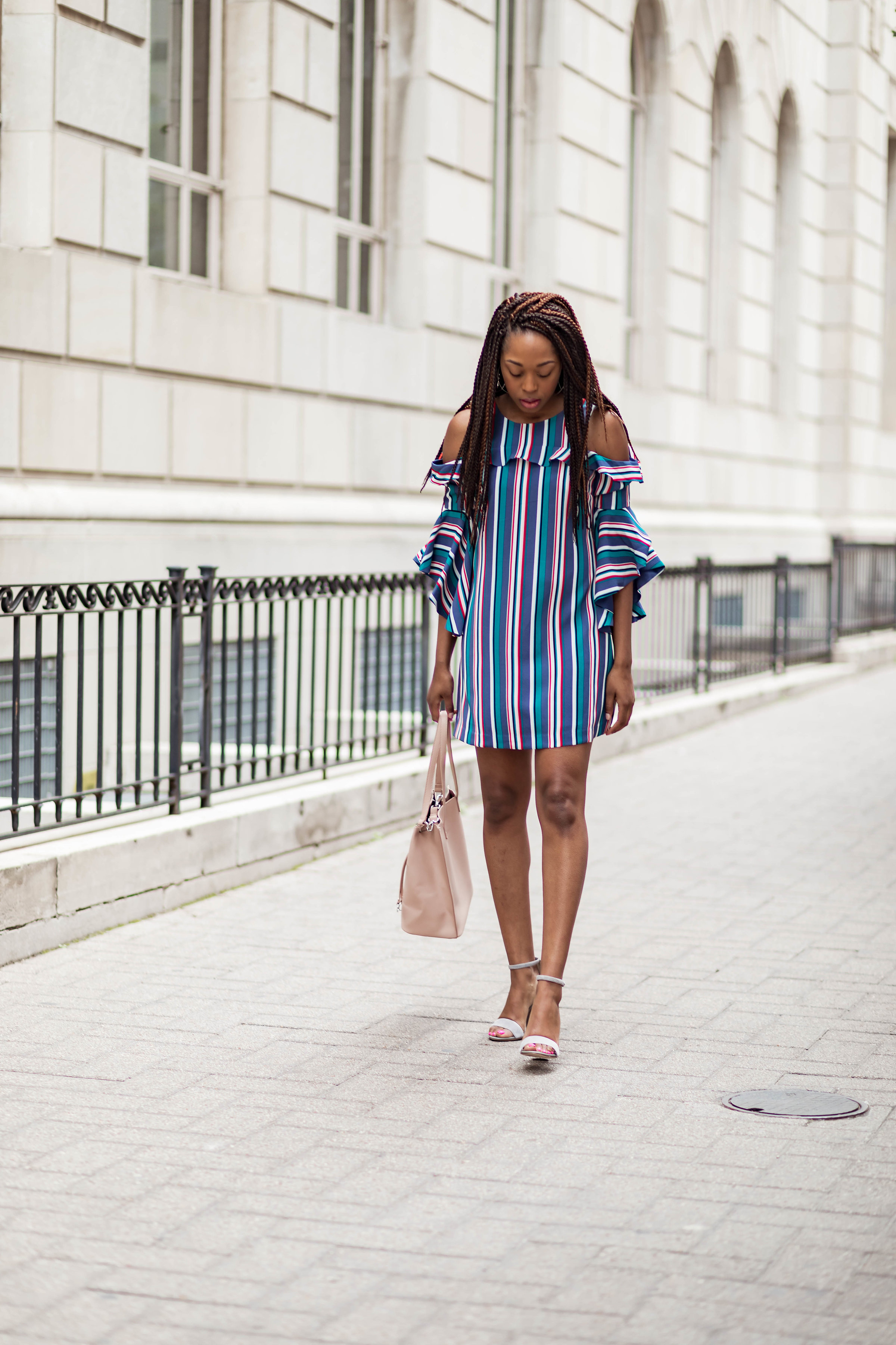ruffle dress styled by charae