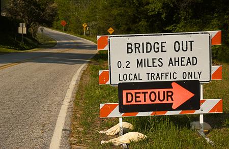 Ignoring the sign - won't make the danger go away