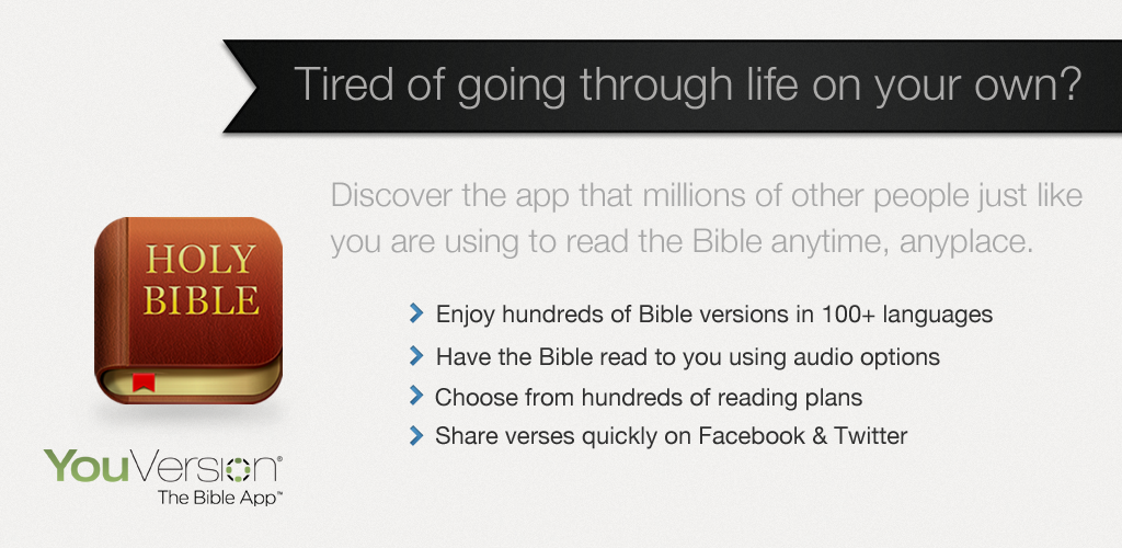 The YouVersion Bible App, available on most phone platforms, is a great way of staying in God's word and you can even set reminders to read at a specific time every day.