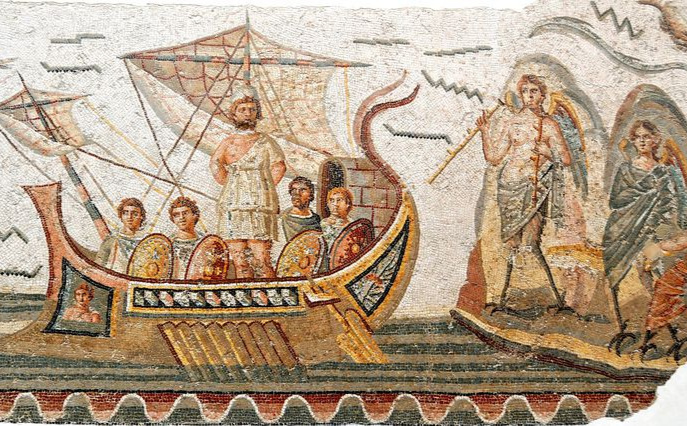 Odysseus and the sirens - Since Odysseus was the only one who could hear and was tied to the mast they passed by the island in safety.