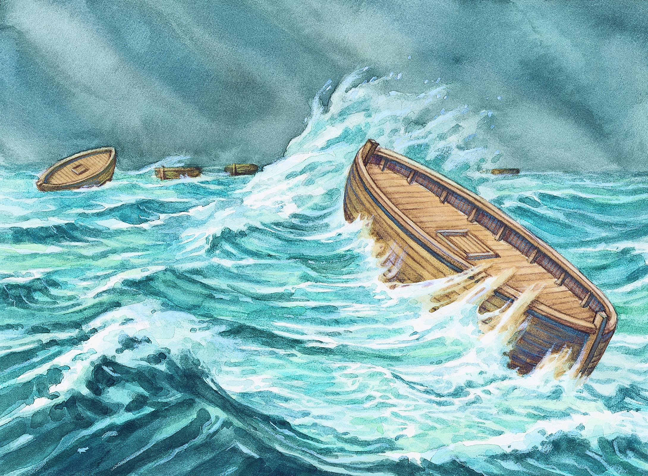 """Jaradite Barges - The book of Ether tells us that Jared and his brother built eight barges that were """"the length of a tree"""" and that they had no windows, just a door that when shut made the barges air and water tight. After complaining to God that there was no air in the barges God had the brother of Jared make an access hole in the top and bottom of each vessel so they could unstop whichever side was up to get air. With people and animals in a small cramped place for 344 days with no way to get rid of the waste, it would have been a disease ridden and filthy place."""
