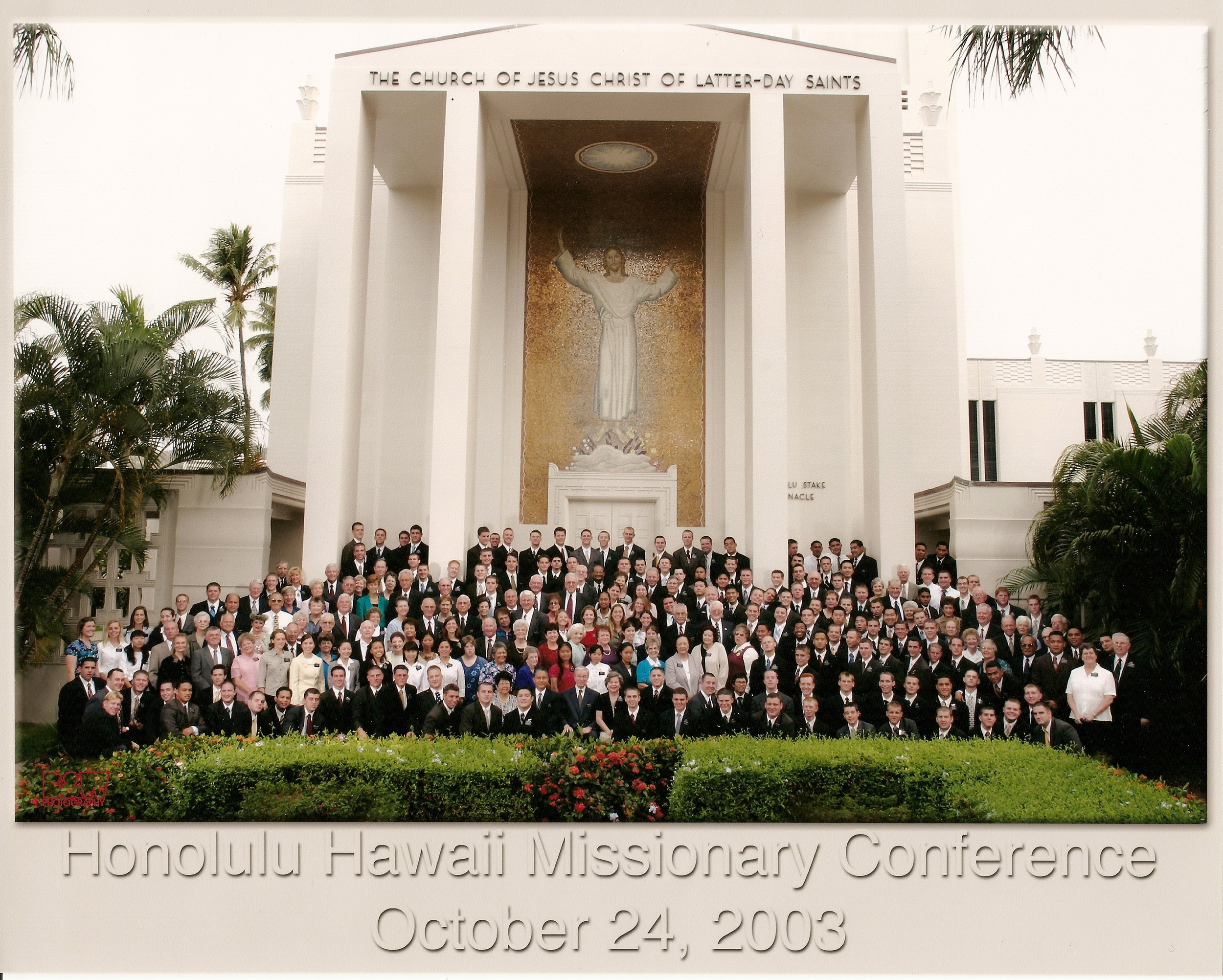 Every missionary in the mission. Taken when President Hinkley visited.