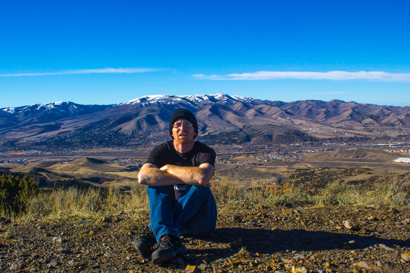 China Peak, overlooking Pocatello, Idaho
