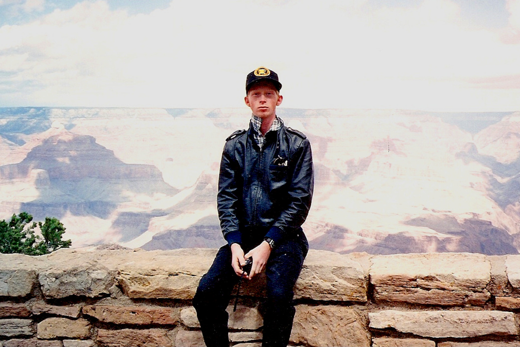 Me at the Grand Canyon when I was around sixteen.