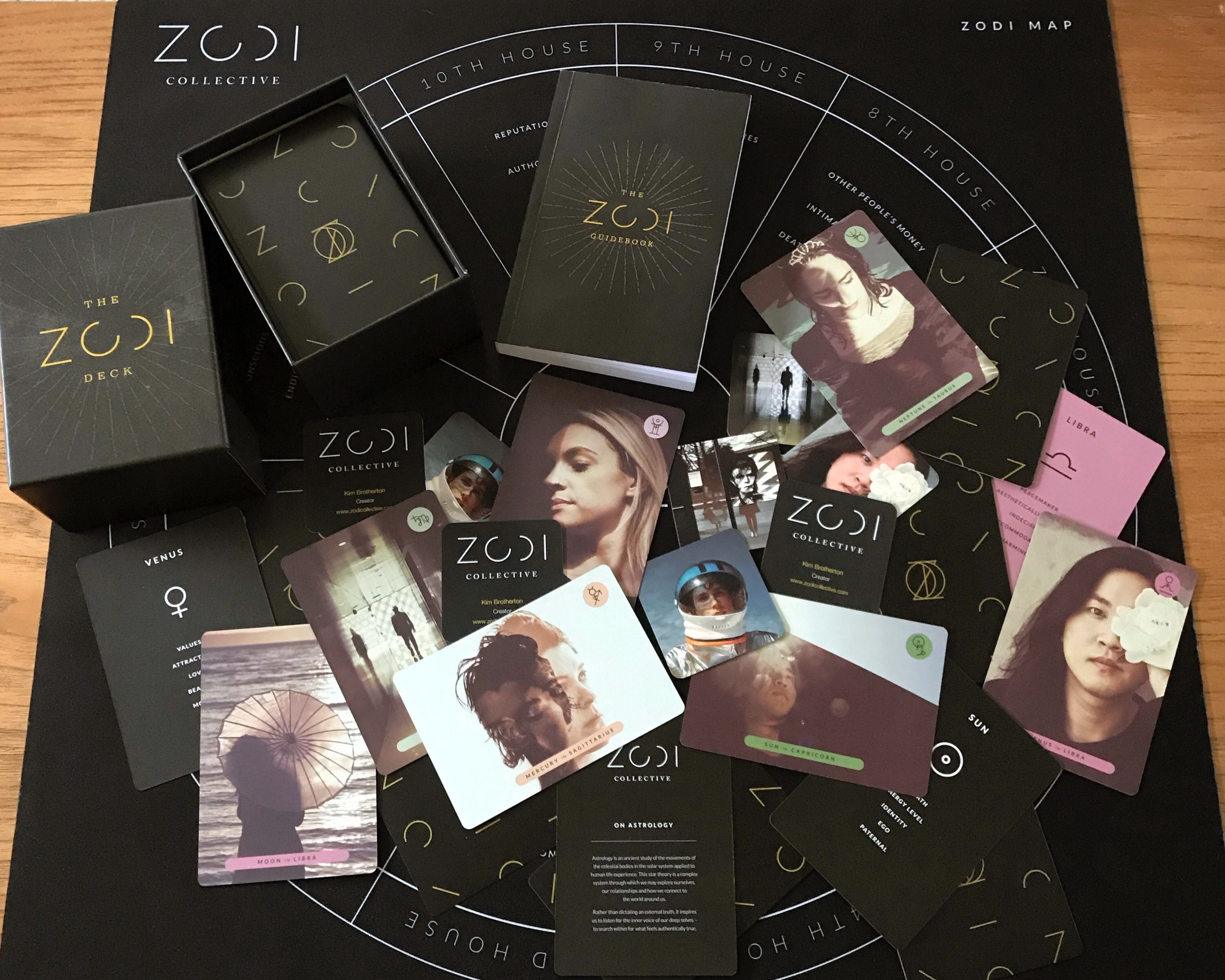 The ZODI Astrology Deck, Guidebook, and Mat