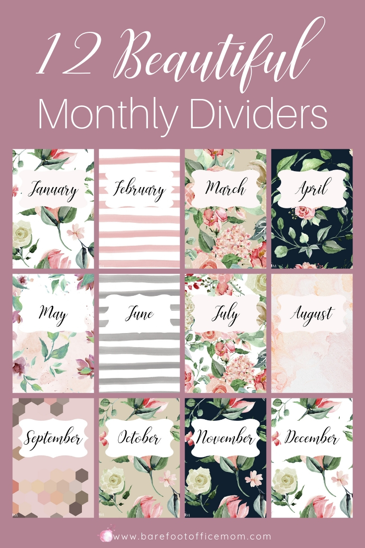 Brightly Summertide Monthly Dividers Pin.jpg