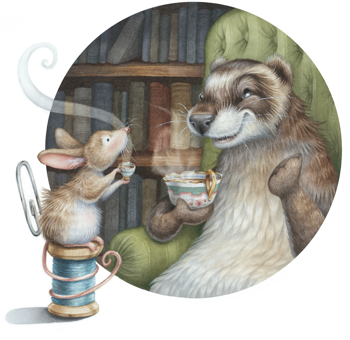 Meeting Over Tea Welcome Page by Kristin Makarius